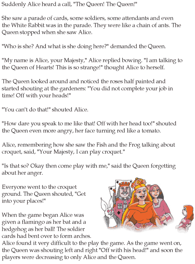 Grade 5 Reading Lesson 13 Fantasy - Alice In Wonderland (5)