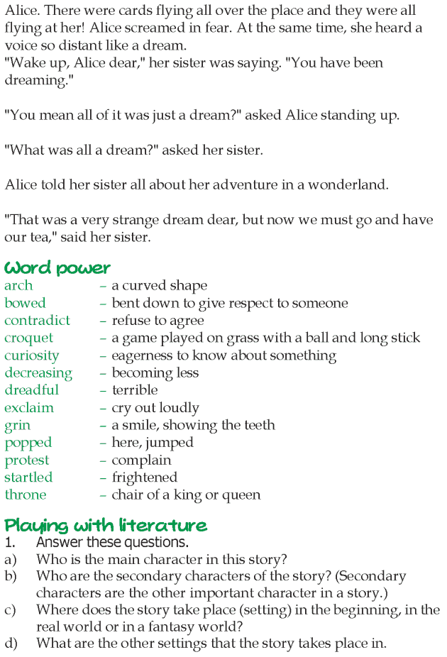 Grade 5 Reading Lesson 13 Fantasy - Alice In Wonderland (7)