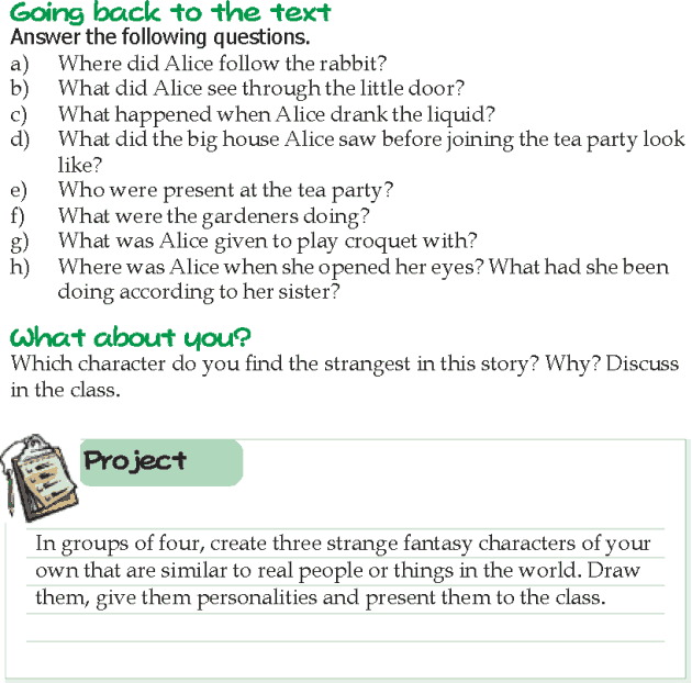 Grade 5 Reading Lesson 13 Fantasy - Alice In Wonderland (9)