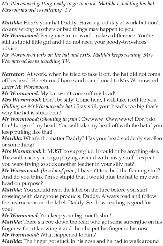 Grade 5 Reading Lesson 16 Play - Matilda (4)