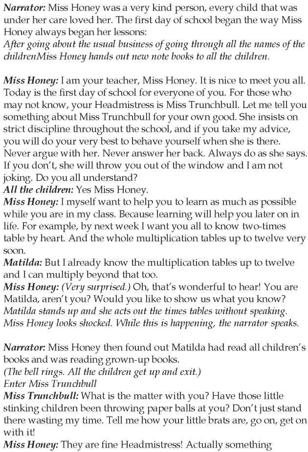 Grade 5 Reading Lesson 16 Play - Matilda (6)