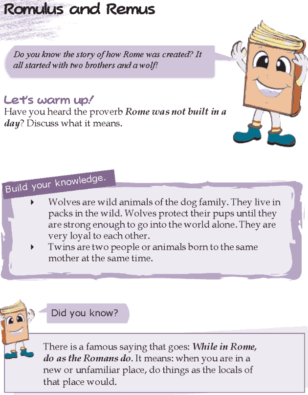 Grade 5 Reading Lesson 17 Myths And Legends - Romulus And Remus
