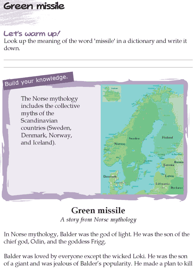 Grade 5 Reading Lesson 18 Myths And Legends - Green Missile