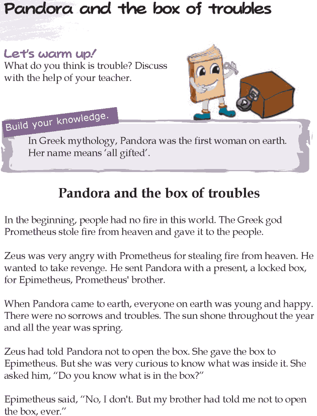 Grade 5 Reading Lesson 19 Myths And Legends - Pandora And The Box Of Troubles