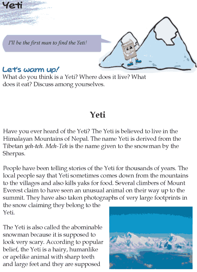 Grade 5 Reading Lesson 20 Nonfiction - Yeti