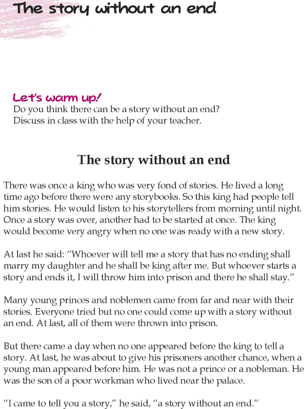 Grade 5 Reading Lesson 23 Short Stories – The Story Without An End Reading