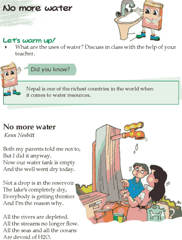 Grade 5 Reading Lesson 5 Poetry - No More Water
