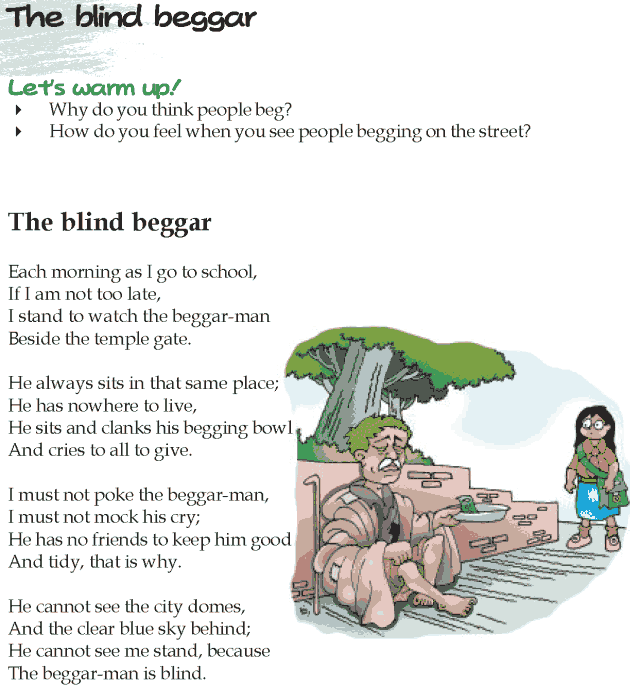 Grade 5 Reading Lesson 7 Poetry - The Blind Beggar