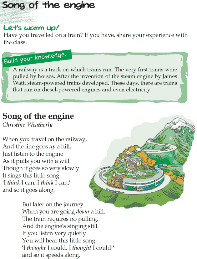 Grade 5 Reading Lesson 8 Poetry - Song Of The Engine