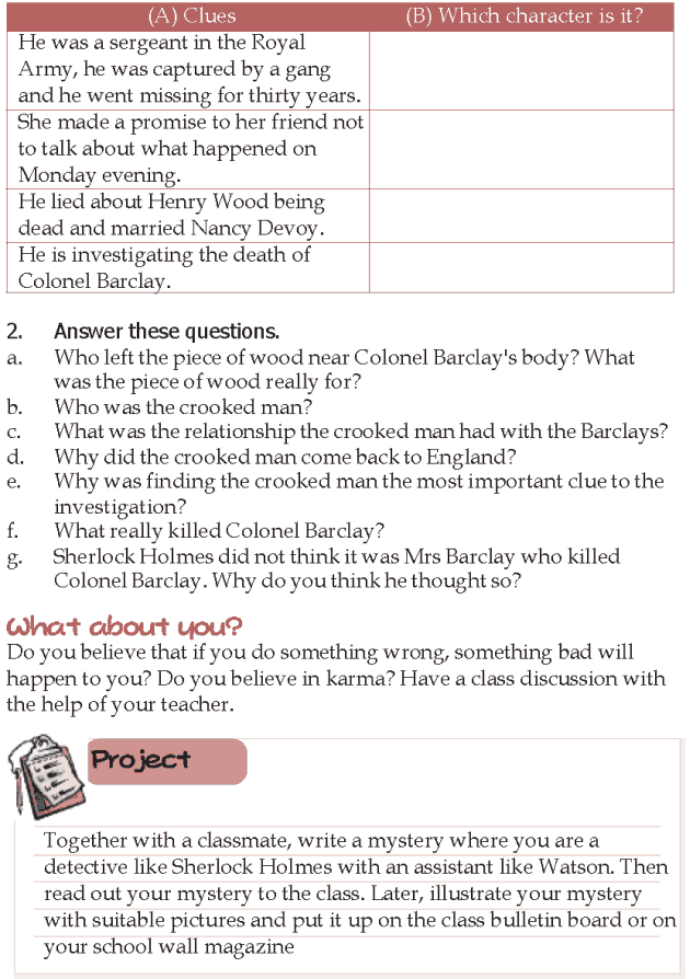 Grade 5 Reading Lesson 9 Mystery - Sherlock Holmes The Adventure Of The Crooked Man (6)