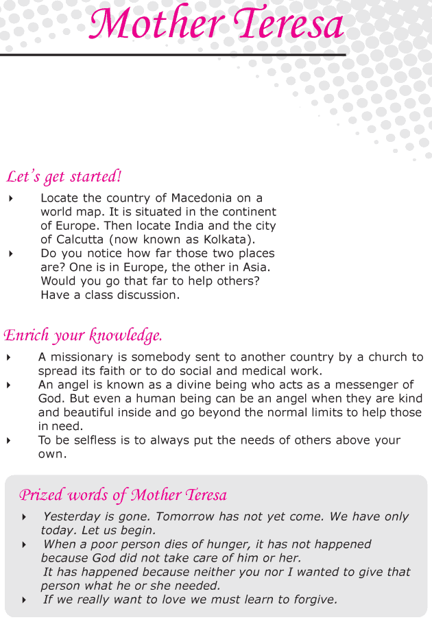 Grade 6 Reading Lesson 11 Biographies - Mother Teresa
