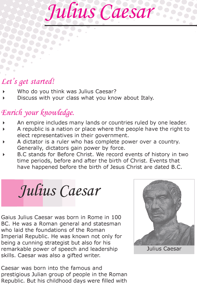 Grade 6 Reading Lesson 12 Biographies - Julius Caesar