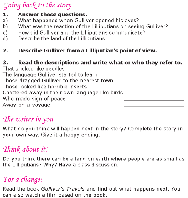 Grade 6 Reading Lesson 13 Classics - Arrival In Lilliput (3)