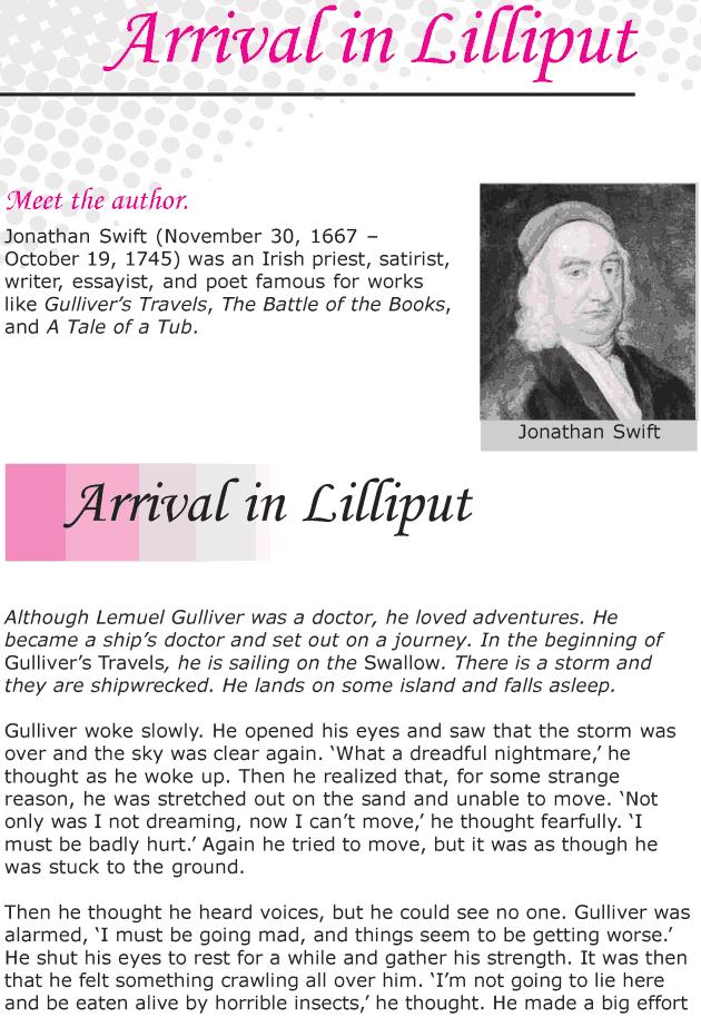 Grade 6 Reading Lesson 13 Classics - Arrival In Lilliput
