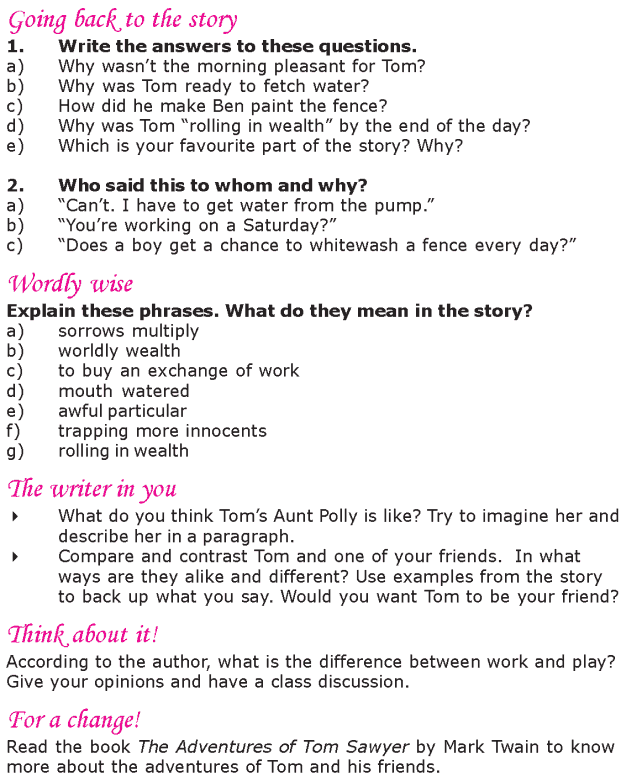 Grade 6 Reading Lesson 14 Classics - Painting The Fence (4)