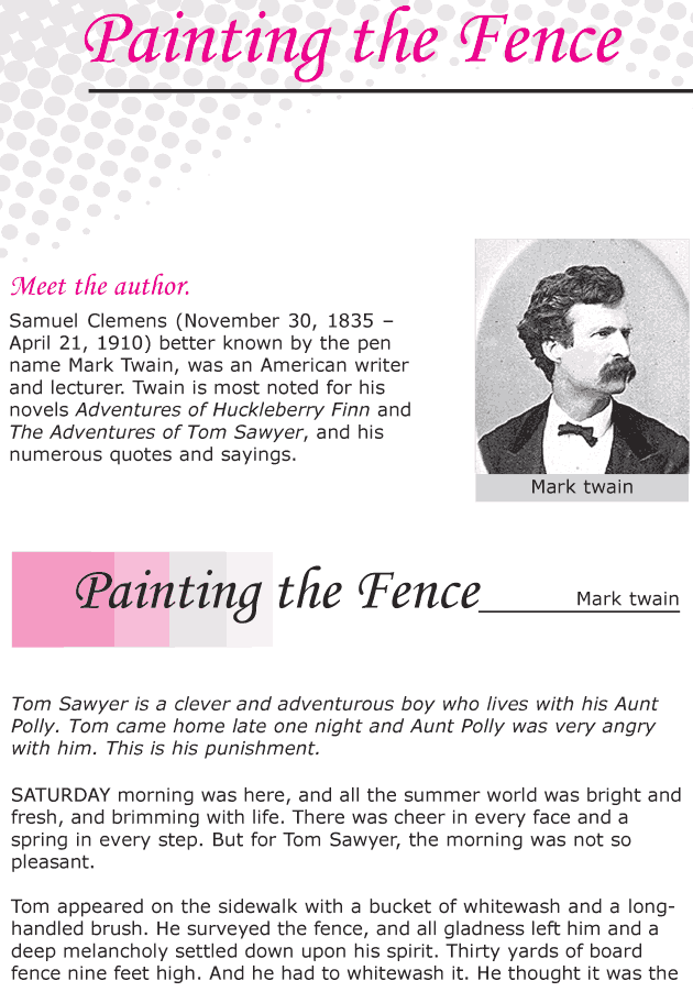 Grade 6 Reading Lesson 14 Classics - Painting The Fence