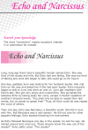 Grade 6 Reading Lesson 16 Myths And Legends - Echo And Narcissus