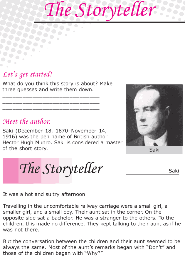 Grade 6 Reading Lesson 19 Short Stories - The Storyteller