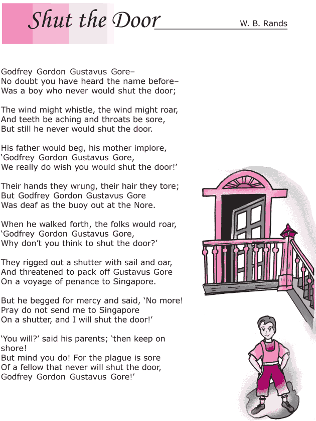 Grade 6 Reading Lesson 2 Poetry - Shut The Door (1)