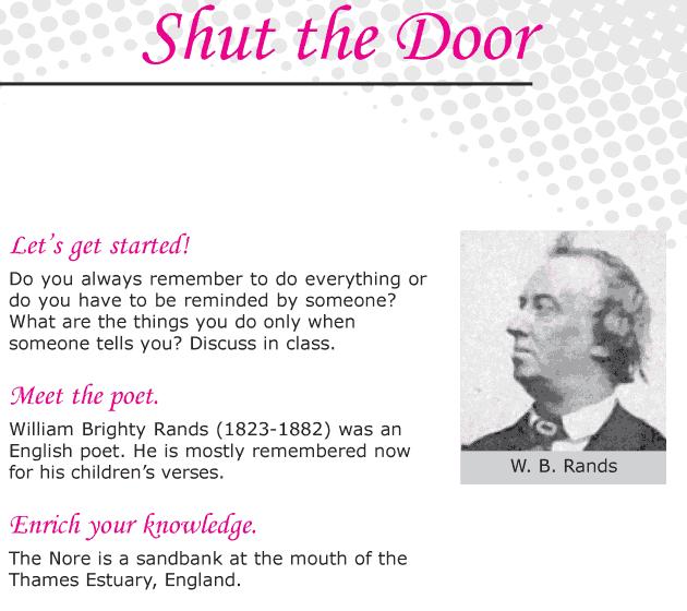 Grade 6 Reading Lesson 2 Poetry - Shut The Door