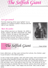 Grade 6 Reading Lesson 20 Short Stories - The Selfish Giant