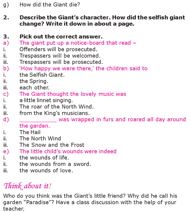 Grade 6 Reading Lesson 20 Short Stories - The Selfish Giant (6)