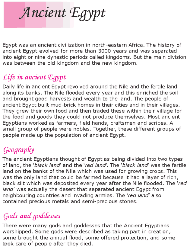 Grade 6 Reading Lesson 21 Nonfiction - Ancient Egypt (1)