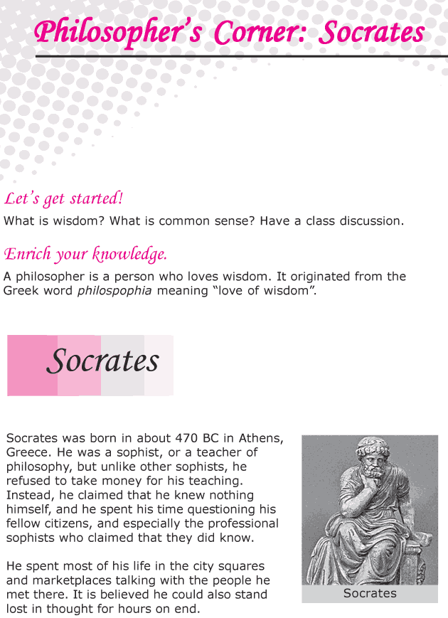 Grade 6 Reading Lesson 24 Nonfiction - Philosopher's Corner - Socrates