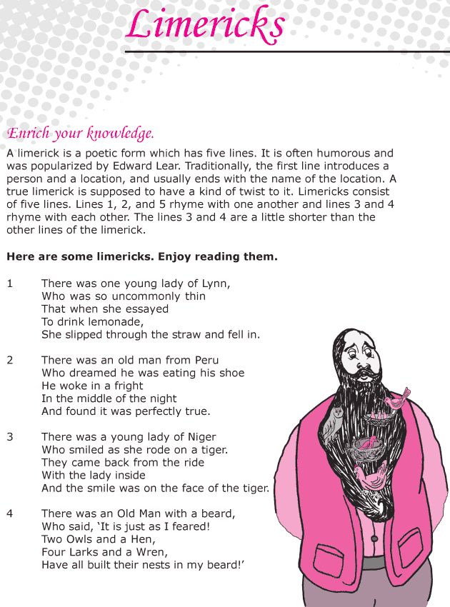 Grade 6 Reading Lesson 7 Poetry - Limericks