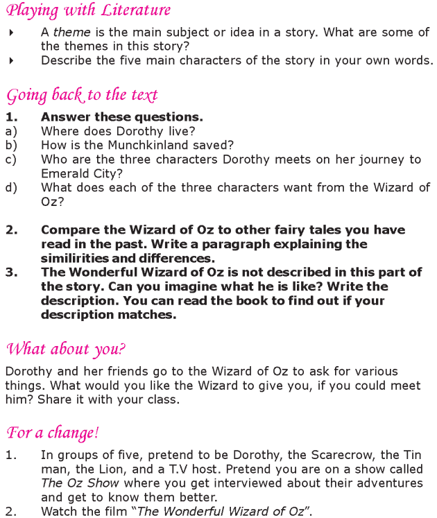 Grade 6 Reading Lesson 8 Fantasy - The Wonderful Wizard Of Oz (9)