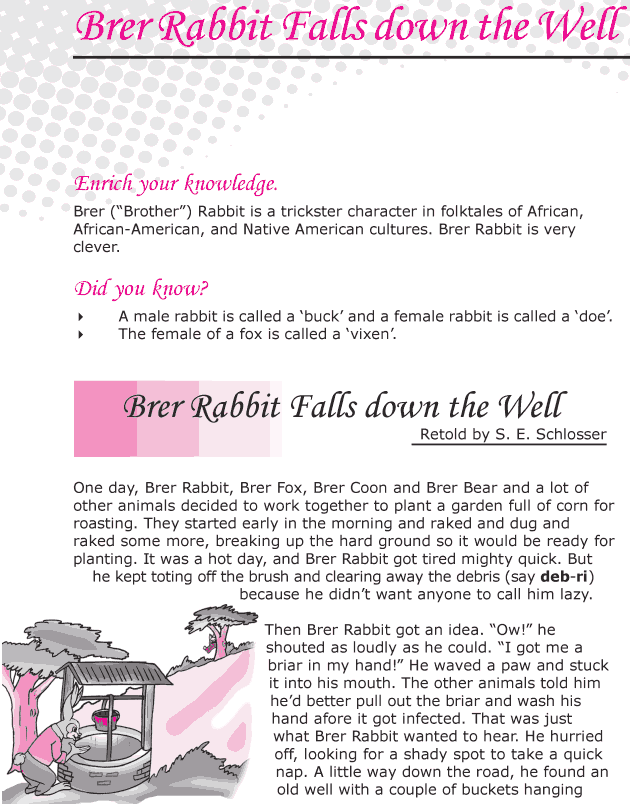Grade 6 Reading Lesson 9 Folktale - Brer Rabbit Falls Down The Well
