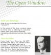 Grade 7 Reading Lesson 1 Short Stories - The Open Window