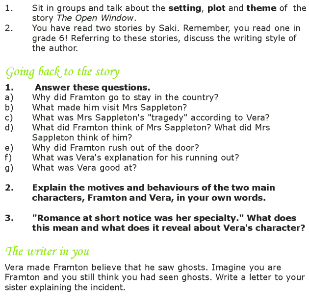 Grade 7 Reading Lesson 1 Short Stories - The Open Window (5)