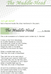 Grade 7 Reading Lesson 11 Poetry - The Muddle Head