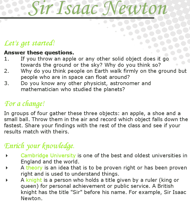 Grade 7 Reading Lesson 13 Biographies - Isaac Newton
