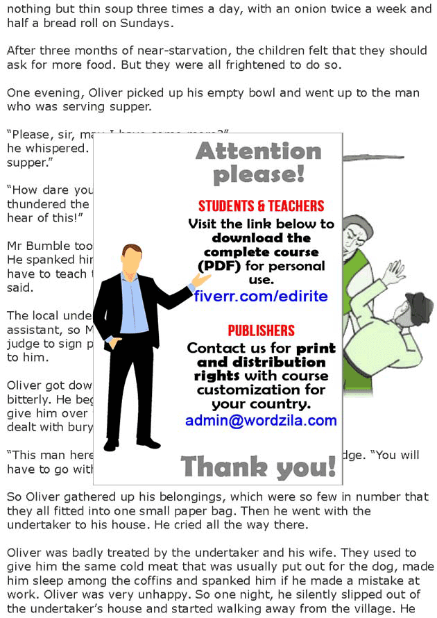 Grade 7 Reading Lesson 15 Classics - Oliver Twist (1)