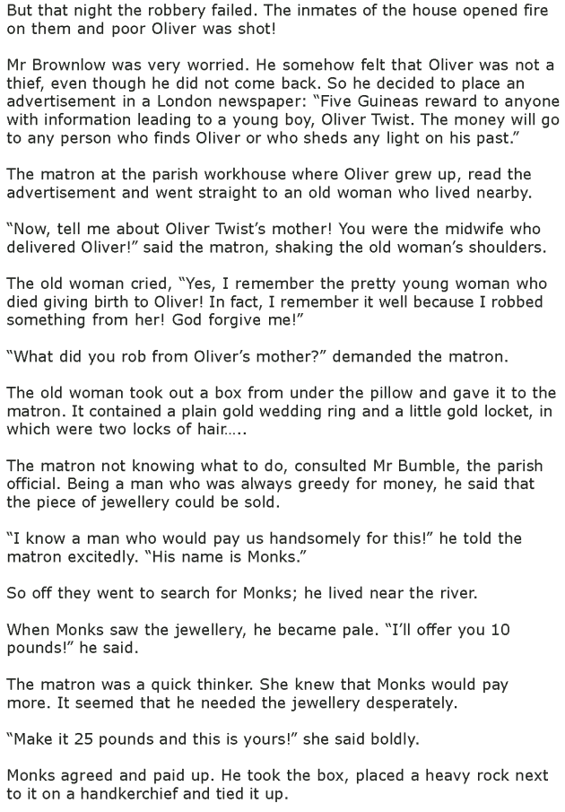 Grade 7 Reading Lesson 15 Classics - Oliver Twist (5)