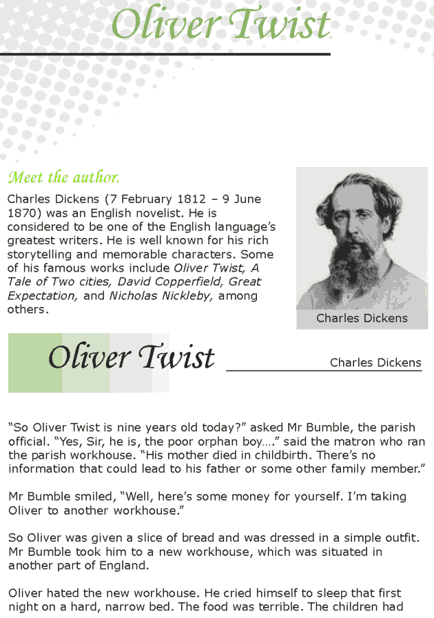 Grade 7 Reading Lesson 15 Classics - Oliver Twist