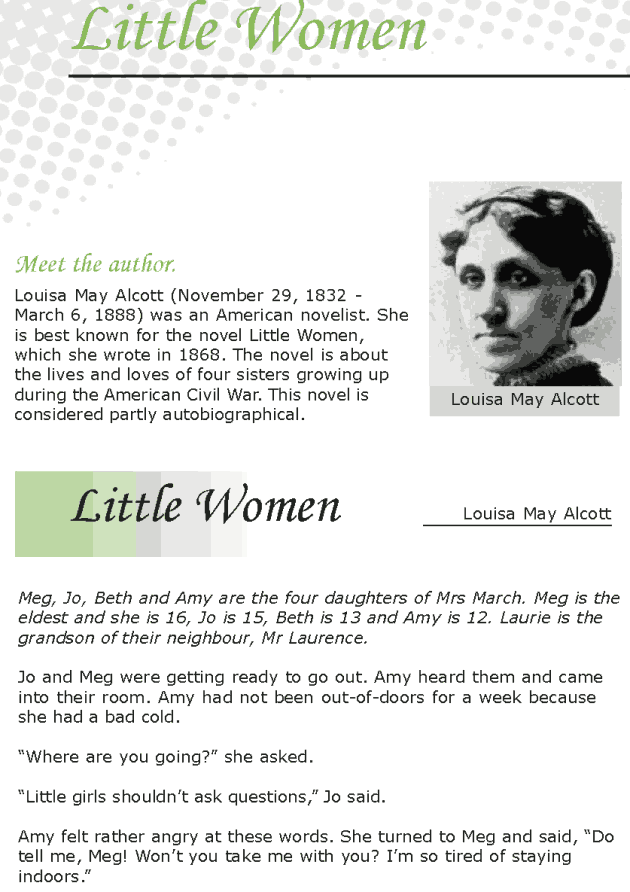 Grade 7 Reading Lesson 16 Classics - Little Women