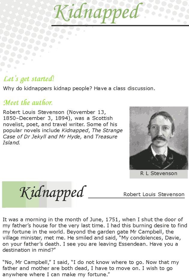 Grade 7 Reading Lesson 17 Classics - Kidnapped