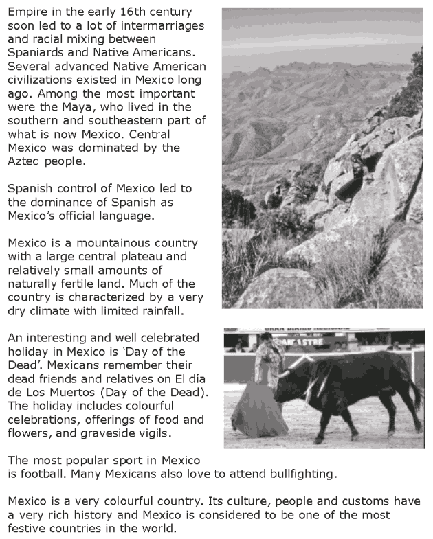 Grade 7 Reading Lesson 18 Nonfiction - Country Profile - Mexico (2)