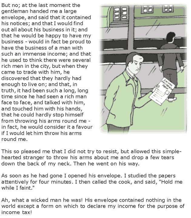 Grade 7 Reading Lesson 2 Short Stories - Income Tax Man (3)