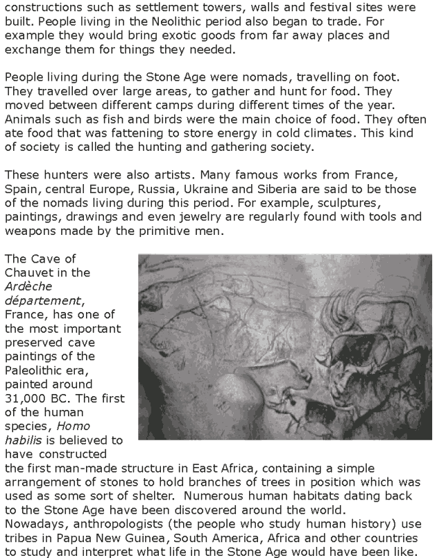 Grade 7 Reading Lesson 20 Nonfiction - The Stone Age (2)