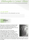 Grade 7 Reading Lesson 21 Nonfiction - Philosopher's Corner - Plato