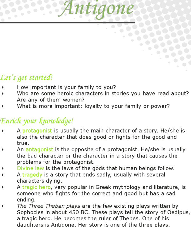 Grade 7 Reading Lesson 22 Myths And Legends - Antigone