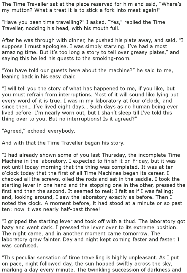 Grade 7 Reading Lesson 24 Science Fiction - The Time Machine (2)