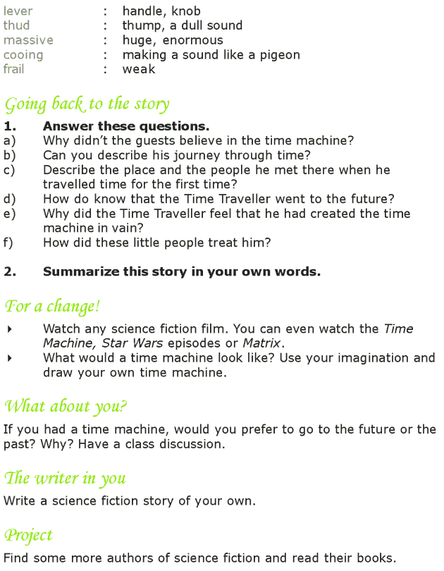 Grade 7 Reading Lesson 24 Science Fiction - The Time Machine (5)