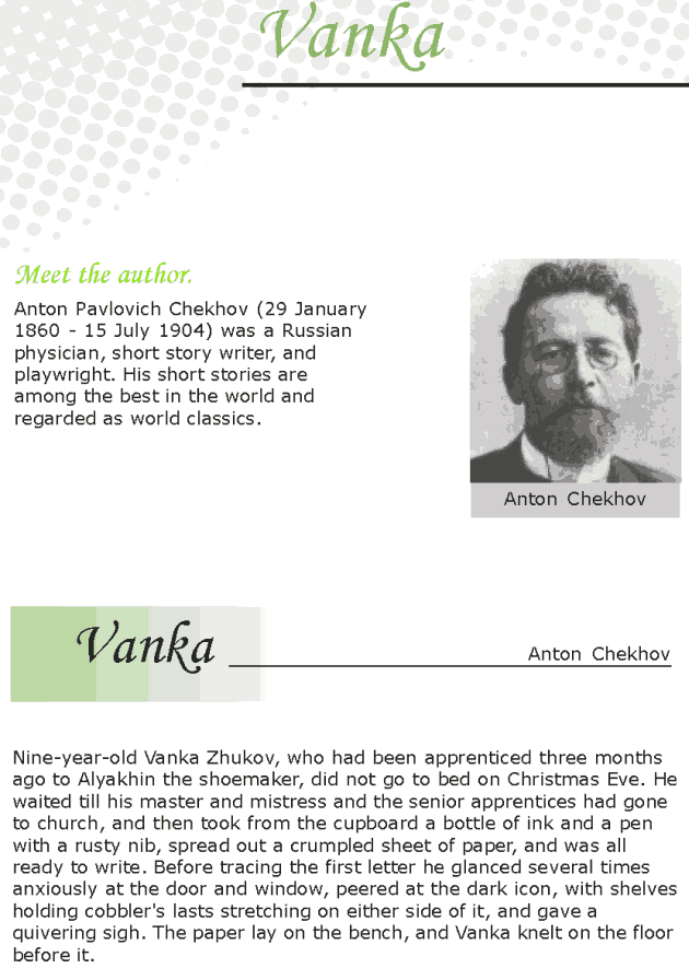 Grade 7 Reading Lesson 3 Short Stories - Vanka