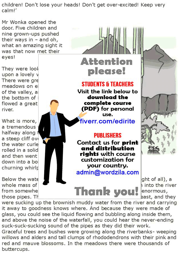 Grade 7 Reading Lesson 4 Fantasy - The Chocolate Room (1)