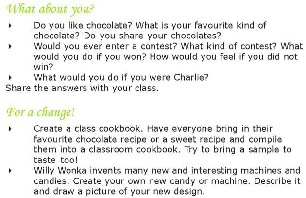 Grade 7 Reading Lesson 4 Fantasy - The Chocolate Room (10)